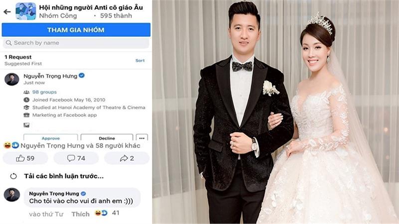 Nguyễn Trọng Hưng hậu ly hôn: Xin add vào group 'anti cô giáo Âu' chỉ để cho vui