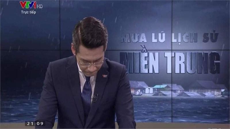 BTV Tuấn Dương khóc trên truyền hình trực tiếp: 'Xin lỗi khán giả, xin lỗi ê-kíp'