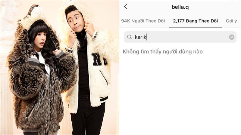 Bella một lần nữa unfollow Karik, cặp đôi lại tiếp tục trục trặc tình cảm?