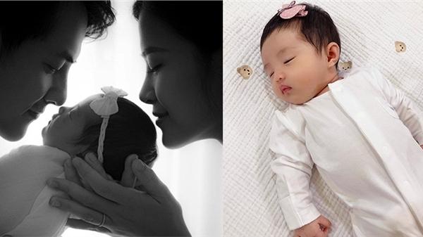 Cận cảnh tiểu công chúa nhà Đông Nhi - Ông Cao Thắng 1 tháng tuổi, netizen đồng loạt nhận định: 'Trộm vía giống ba'