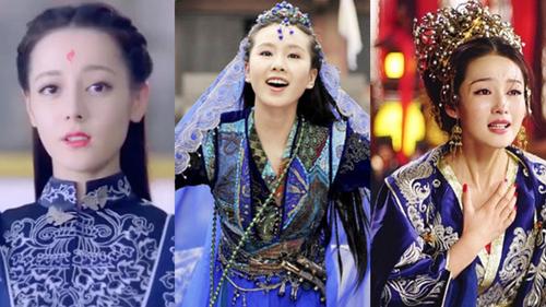 Váy xanh lộng lẫy: Địch Lệ Nhiệt Ba - Lý Thấm ai cũng xinh đẹp mê đắm, xuất sắc nhất là Lưu Thi Thi