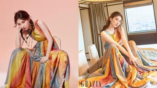'Tiểu Song Hye Kyo' & Angelababy 'đụng độ' bộ váy sặc sỡ đẹp đến ngây người