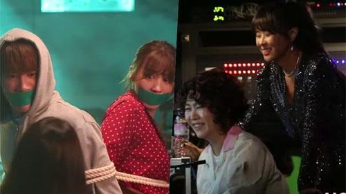 Choi Kang Hee, Jun (U-Kiss) không thể ngừng cười trên phim trường 'Giả danh'