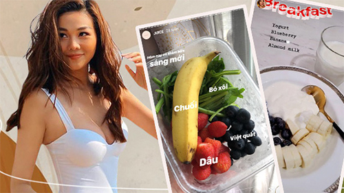 Loạt bữa sáng 'giữ eo' của các người đẹp Việt, copy theo thì dáng bạn không mi nhon hẳn mới là chuyện lạ
