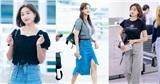 Thân hình đầy đặn và chỉ cao 1m60 nhưng Jihyo (TWICE) không để mình bị dìm dáng bằng cách áp dụng loạt outfit sành điệu