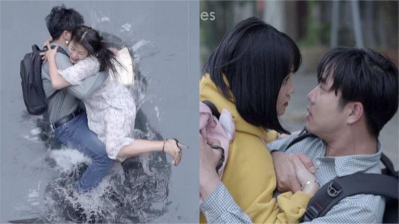 'Bạn học tôi là bố' tập 3: Vừa kéo cô giáo chủ nhiệm xuống nước, 'ông bố' sinh viên Thường Quân đã suýt hôn lớp trưởng ngoài đường