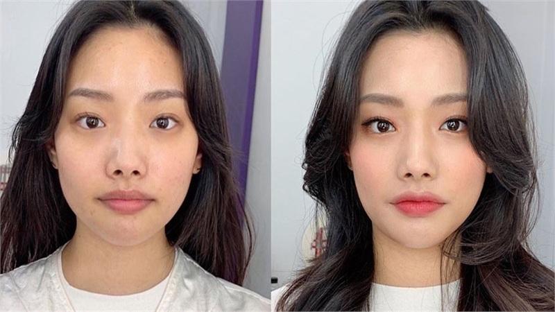 Mũi tẹt và mặt to nhưng gương mặt của cô nàng này đã thay đổi hoàn toàn nhờ tuyệt chiêu makeup
