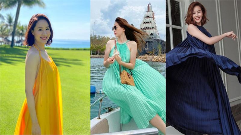 Hồng Diễm vẫn nổi bật khi cùng diện chiếc đầm 'thần thánh' đọ sắc giữa dàn mỹ nhân showbiz Việt