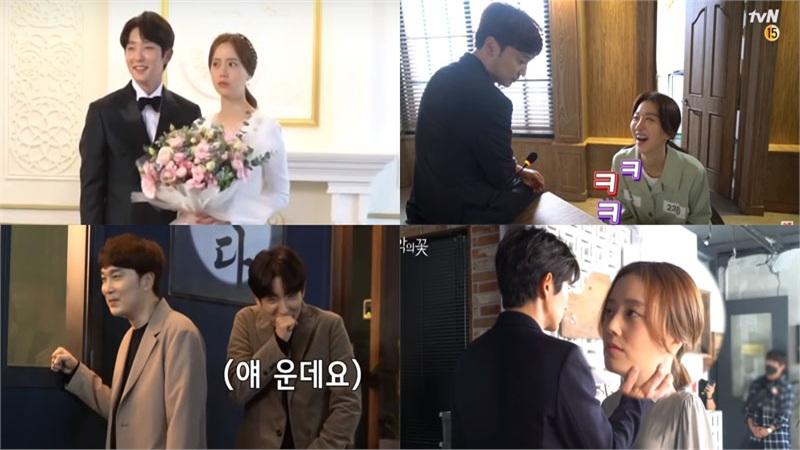 'Flower of evil' tung hậu trường tập cuối: Lee Joon Ki 'quạo' khi phải chờ đợi để hôn Moon Chae Won