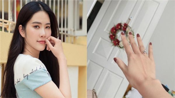 Nam Em đeo nhẫn ngón áp út, xác nhận theo chồng về dinh?