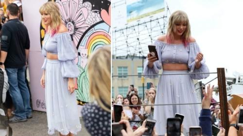 Quá hạnh phúc, Taylor Swift mặc kệ vóc dáng ngày càng xồ xề, lộ bụng mỡ cũng không quan tâm?