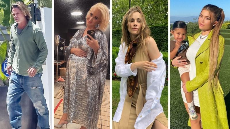 Điểm style sao US, UK tuần qua: Brad Pitt 'tàn' cả style lẫn nhan sắc, hội 'bỉm sữa' gây sốt với thời trang bầu