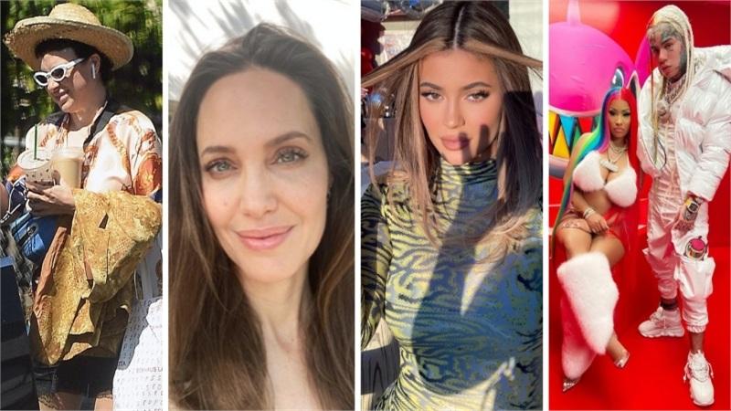 Điểm style sao US, UK tuần qua: Tình mới của Brad Pitt kém đẹp so với Angelina Jolie, Nicki Minaj nhuộm tóc 7 màu