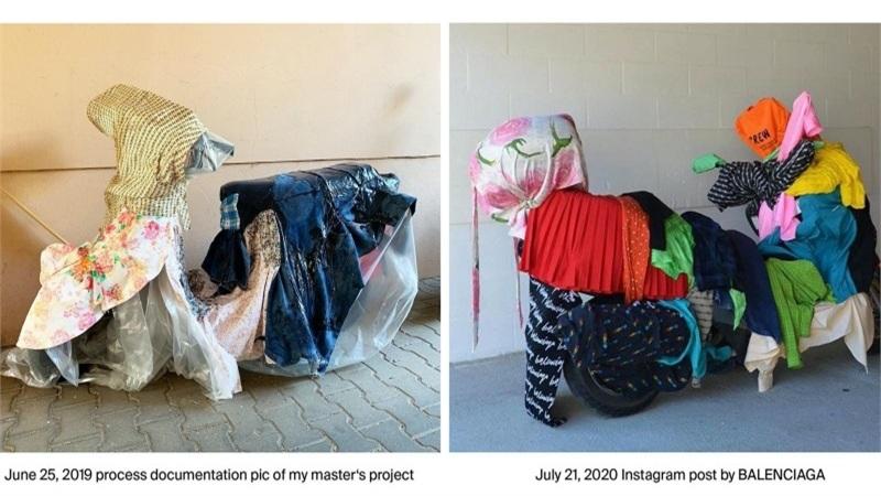 Balenciaga bị tố ăn cắp ý tưởng thiết kế của 1 nghệ sĩ Việt Nam