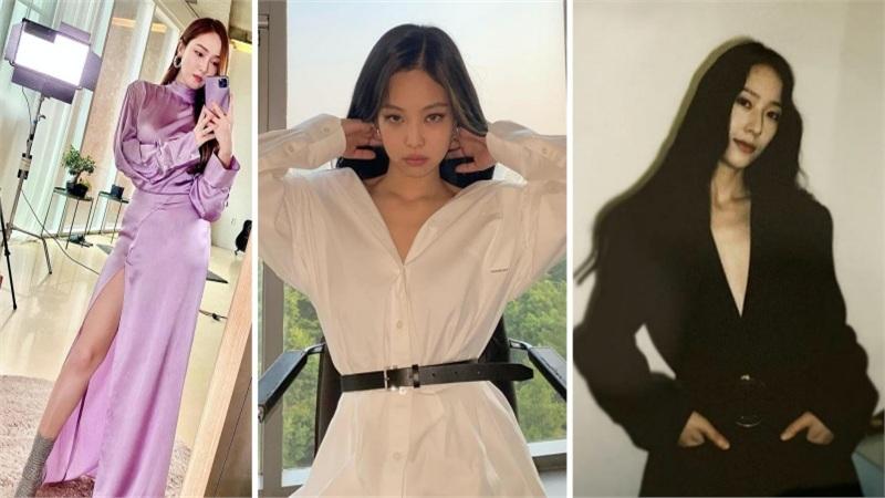 SaoHànmặcđẹptuần qua: Jennie và Krystal cùng chung ý tưởng, Jessica quá đỉnh khi 'nhân đôi' sắc tím không 'chùn tay'