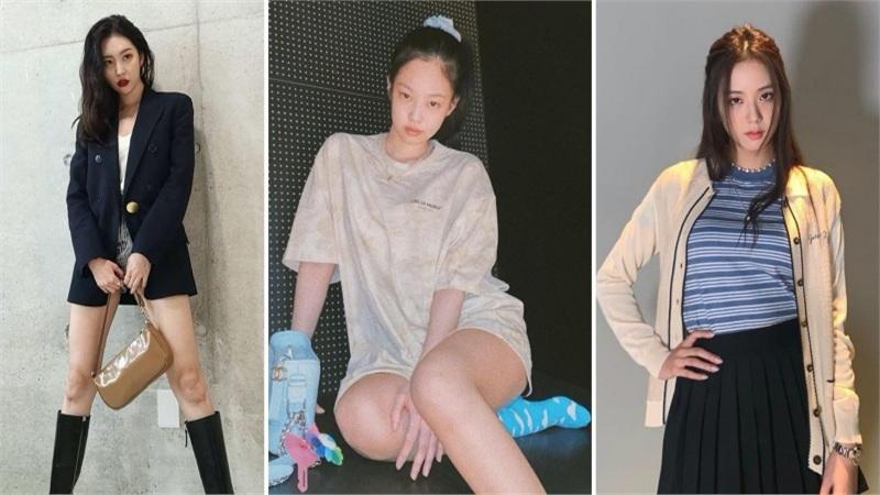 Sao Hàn mặc đẹp tuần qua: Jennie, Jisoo, Hyomin lăng xê tông xanh, Sunmi có nhiều 'chiêu' để học hỏi
