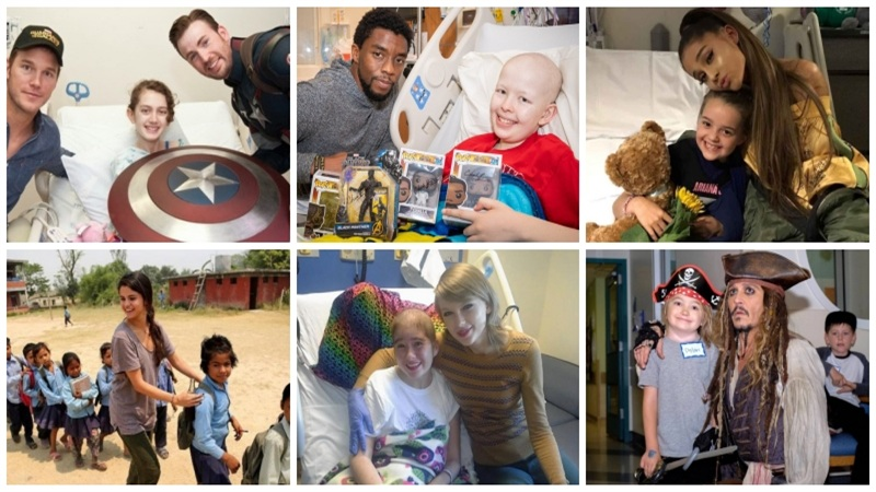 Chadwick Boseman, Taylor Swift, Selena Gomez và nhiều ngôi sao trở thành 'anh hùng đời thực'