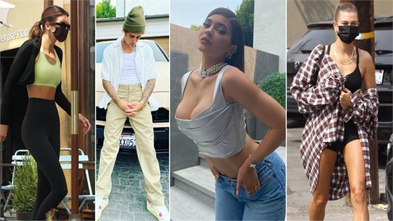 Điểm style sao US, UK tuần qua: Hailey Bieber và Kendall Jenner mặc đồ đơn giản vẫn đẹp, Kylie Jenner khoe ngực 'ngồn ngộn'