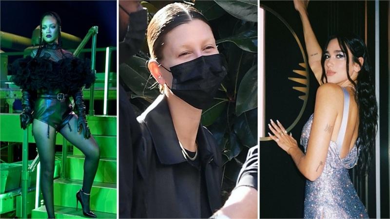 Điểm style sao US-UK tuần qua: Rihanna mở show nội y siêu hot, Hailey Bieber gây sốc với 'lông mày biến mất'