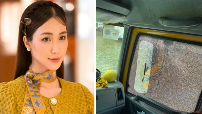 Hòa Minzy đưa thai phụ đi cấp cứu nhưng bất ngờ lại bị người dân ném đá vỡ kính xe