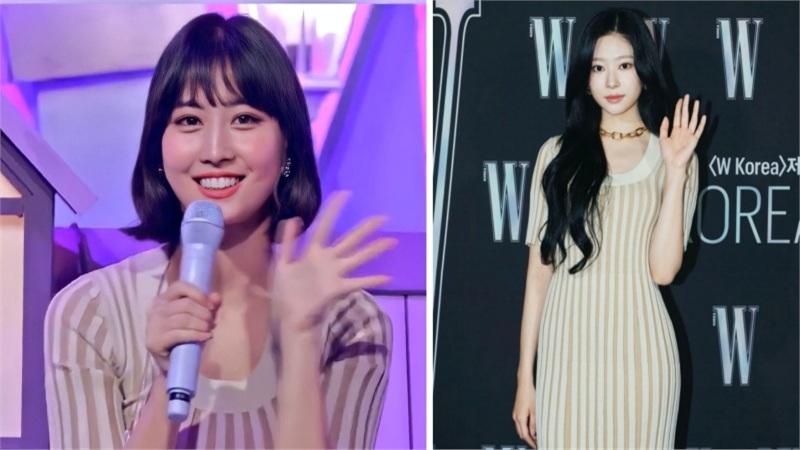 Mặc cùng 1 chiếc váy, Momo được 9 thì Minjoo nên được 10 điểm vì body hình chữ S
