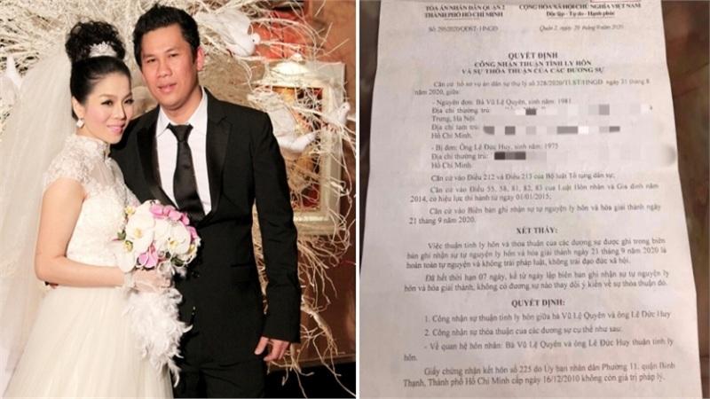 Lệ Quyên: 'Chúng tôi ly hôn thuận tình, không vi phạm đạo đức, không làm tổn thương nhau'