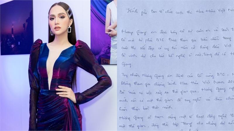 Hương Giang viết thư tay xin rút khỏi 'Hoa hậu Việt Nam 2020', anti-fans mỉa mai: 'Cái đơn như trò hề'