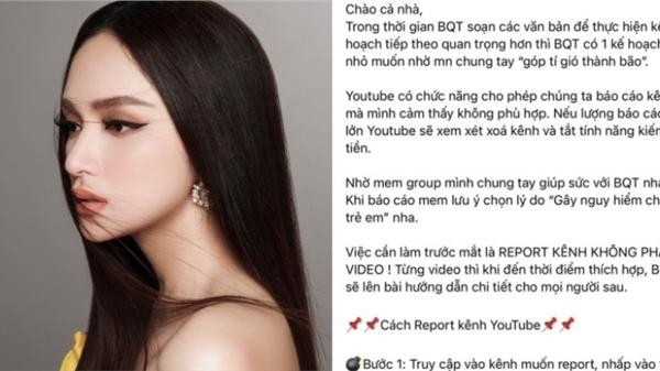 140 ngàn anti-fans 'đồng lòng report đánh sập kênh youtube 1,3 triệu người theo dõi của Hương Giang'
