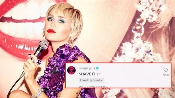 Fan hứa sẽ nhuộm tóc bất kỳ màu gì nếu Miley Cyrus chịu comment, nữ ca sĩ 'chơi lớn' - Cạo trọc em nhé