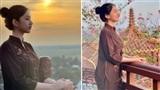 Cẩm Đan đăng ảnh lên chùa sau ồn ào yêu chồng cũ Lệ Quyên: 'Tất bật hơn thua rồi cũng bỏ'