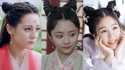 'Hot trend' tóc sừng dê trên màn ảnh Hoa ngữ: Đàm Tùng Vận, Địch Lệ Nhiệt Ba cực dễ thương, Triệu Lộ Tư lại bị chê quá đà
