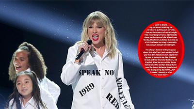 HOT: Taylor Swift đăng đàn tố cáo hãng đĩa của Scooter Braun 'tham lam không biết xấu hổ' khi 'lươn lẹo xào nhạc' mà chưa được cho phép