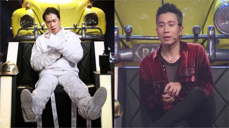 Karik tiếp tục bị fan 'cà khịa' khi mặc áo nhung bóng bẩy, sơn móng tay đen trong Rap Việt