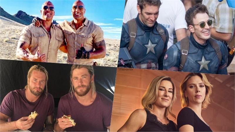 Diễn viên đóng thế ngỡ 'song trùng' sao Hollywood: The Rock nhờ chính em họ, Chris Evans và Chris Hemsworth tìm được bản sao