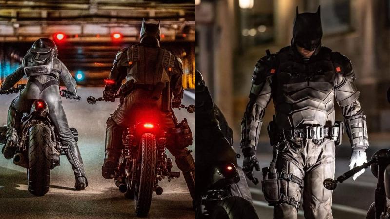 'The Batman' lộ cảnh hậu trường siêu hot, Batman và Catwoman đua xe cực ngầu