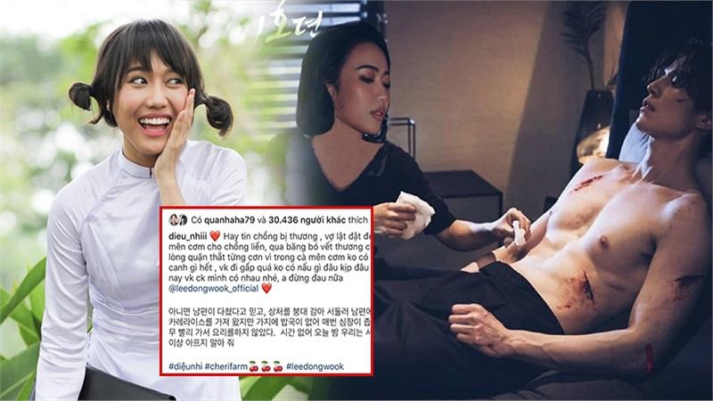 Diệu Nhi tiếp tục 'mất liêm sỉ' chế ảnh chăm sóc 'hồ ly' Lee Dong Wook
