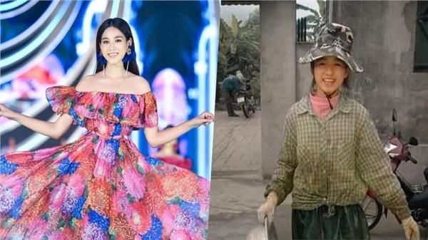 Lộ ảnh đi làm nông lấm lem bùn đất của tân Hoa hậu Đỗ Thị Hà, ảnh 'mờ tịt' nhưng vẫn xinh bất chấp