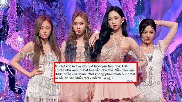 Aespa bị 'soi mói' vì hát live... quá tốt, netizen phán: 'Giờ thở thôi cũng bị ghét'