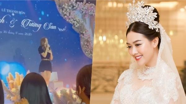 Á hậu Kiều Loan trổ tài hát 'cực ngọt' tại đám cưới Tường San