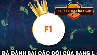 Nữ game thủ MaiHương cùng đồng đội team F1 xuất sắc giành top 1 Bảng L giải Mocha Free Fire Fight