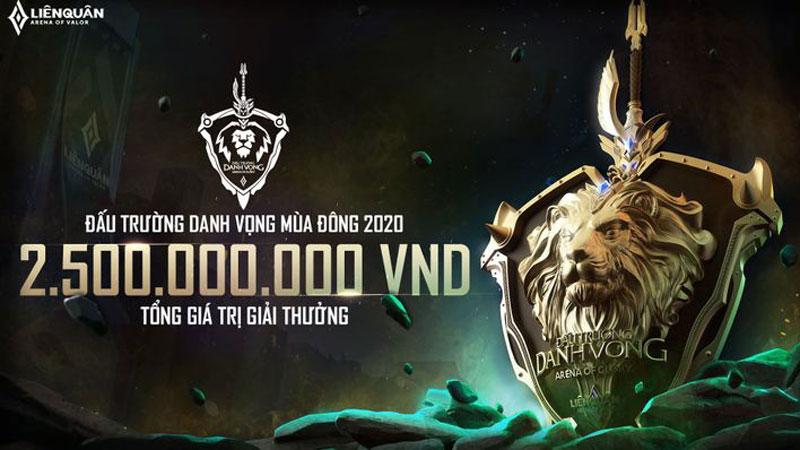 Đấu trường danh vọng mùa Đông 2020 tiếp tục lập kỷ lục, nâng tổng giải thưởng lên 2,5 tỷ đồng