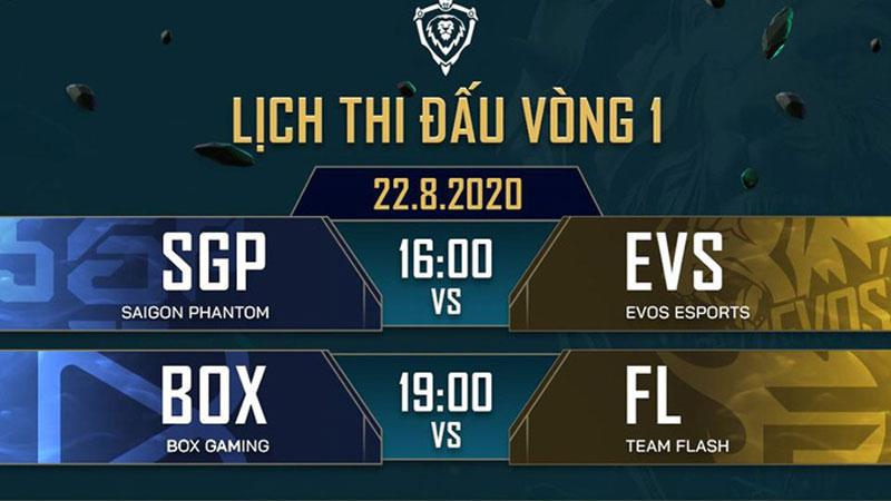 Lịch thi đấu ĐTDV mùa Đông 2020: Saigon Phantom mở màn cùng EVOS Esports