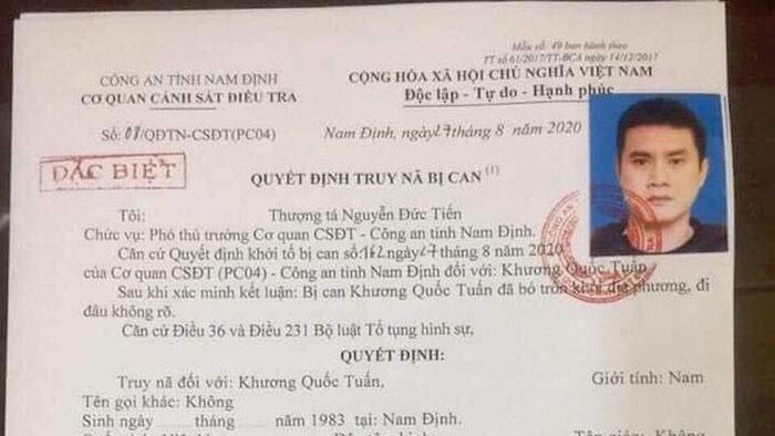 Cựu cầu thủ Nam Định bị truy nã đặc biệt vì vận chuyển ma tuý
