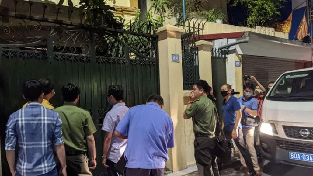 Cận cảnh khám nhà ông Nguyễn Đức Chung