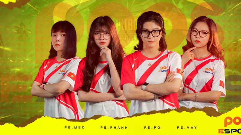 Vượt qua nhiều đội mạnh, POPS Esports trở thành đội tuyển nữ đầu tiên đạt Top 1 tại PMPL VN S2