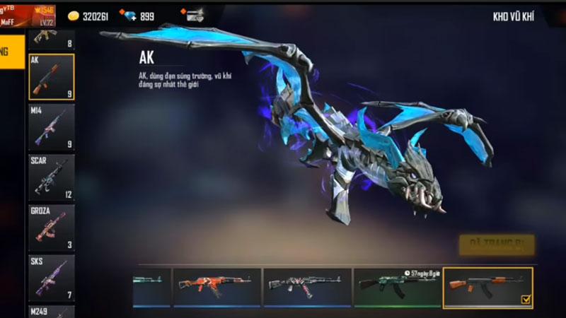 Cộng đồng Free Fire sốc với skin súng AK47 với 8 đặc quyền, tranh cãi về tính cân bằng lại nổ ra