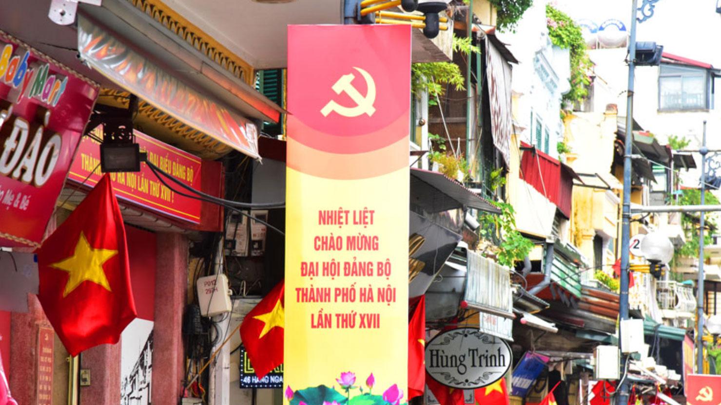 Hà Nội rợp cờ hoa những ngày hội lớn