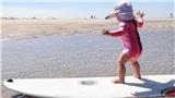 Thiên thần nhỏ gây sốt khi có thể trượt ván, lướt sóng, trượt tuyết ở tuổi lên 2, chơi thể thao hoàn toàn vì đam mê chứ không hề bị ép buộc