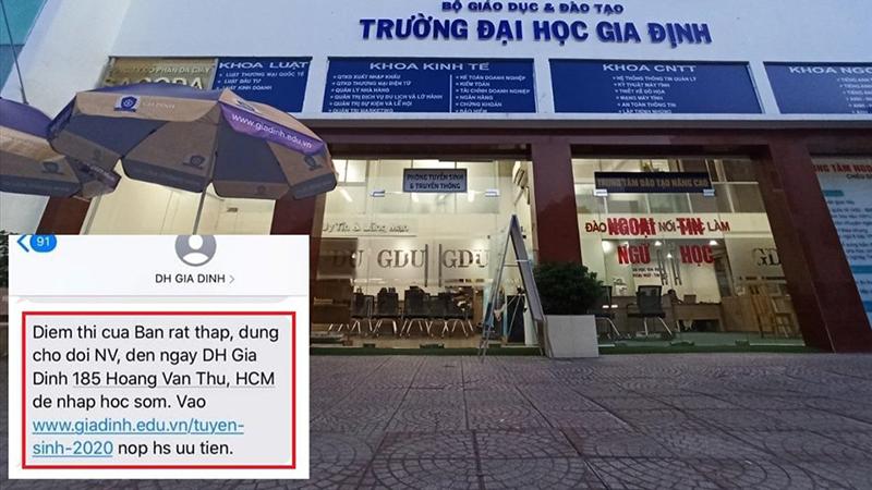 Đại học Gia Định lên tiếng xin lỗi vì 'spam' tin nhắn mời sinh viên nhập học