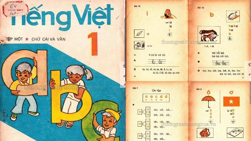 Bất ngờ xuất hiện hình ảnh sách giáo khoa Tiếng Việt lớp 1 của 30 năm trước